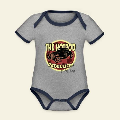 hotrod rebellion - Kortærmet økologisk babybody i kontrastfarver