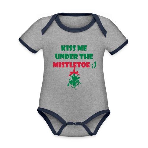mistletoe - Baby Bio-Kurzarm-Kontrastbody