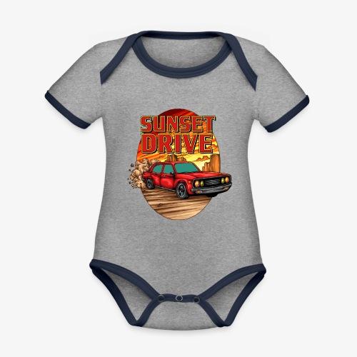 Sunset Drive - Baby Bio-Kurzarm-Kontrastbody