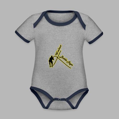 Battle Rope Workout - Baby Bio-Kurzarm-Kontrastbody