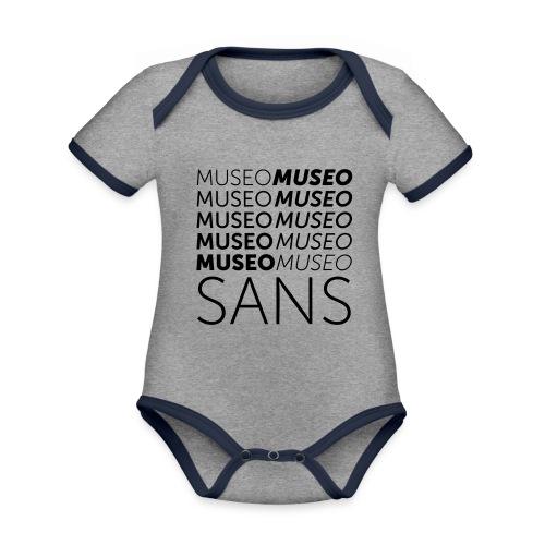 museo sans - Organic Baby Contrasting Bodysuit