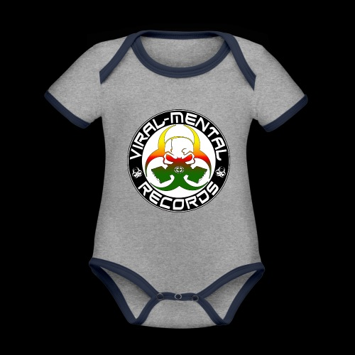 Viral Mental Records Logo - Organic Baby Contrasting Bodysuit