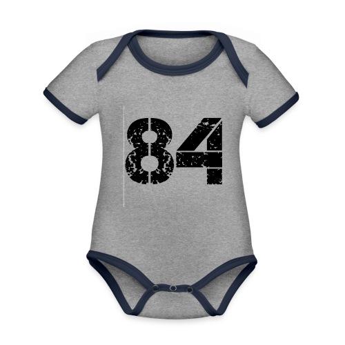 84 vo t gif - Baby contrasterend bio-rompertje met korte mouwen