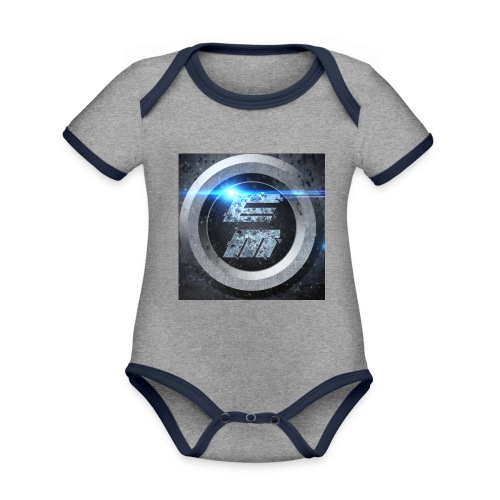 EasyMo0ad - Baby Bio-Kurzarm-Kontrastbody