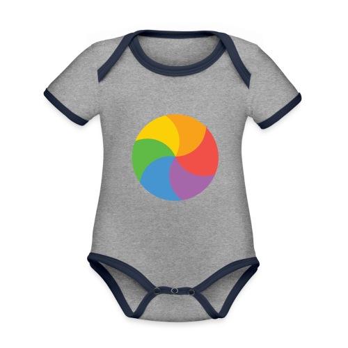 BeachBal - Baby contrasterend bio-rompertje met korte mouwen