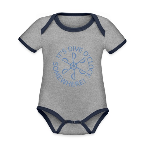 Dive o clock Light Blue - Organic Baby Contrasting Bodysuit