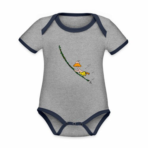cartoon_Kleimdesign_tarze - Baby Bio-Kurzarm-Kontrastbody