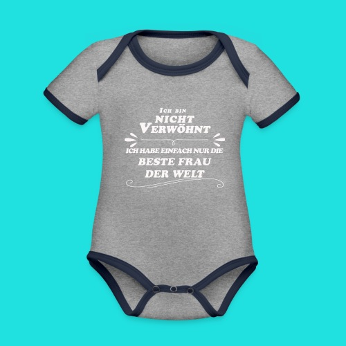 Beste Frau der Welt - Baby Bio-Kurzarm-Kontrastbody