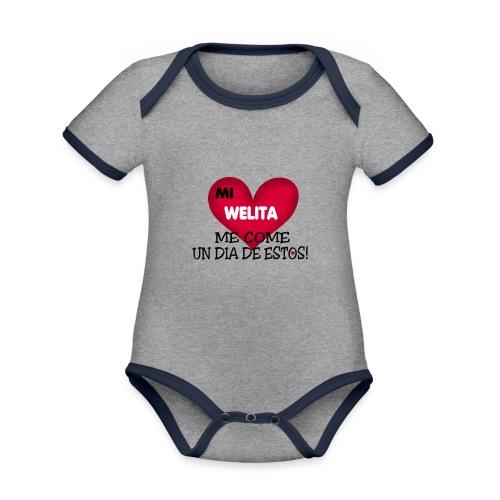 MI_WELITA_ME_COME_UN_DIA_DESTOs - Body contraste para bebé de tejido orgánico