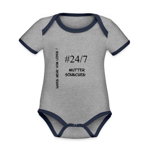 Muttersöhnchen - Baby Bio-Kurzarm-Kontrastbody