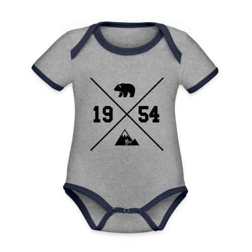 Karhuvuori -baseballhuppari - Vauvan kontrastivärinen, lyhythihainen luomu-body
