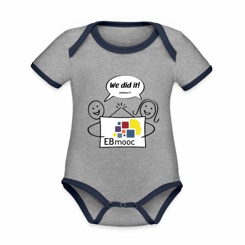 EBmooc 2017 Abschluss Comic - Baby Bio-Kurzarm-Kontrastbody