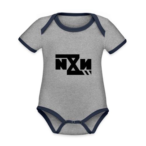 N8N Bolt - Baby contrasterend bio-rompertje met korte mouwen