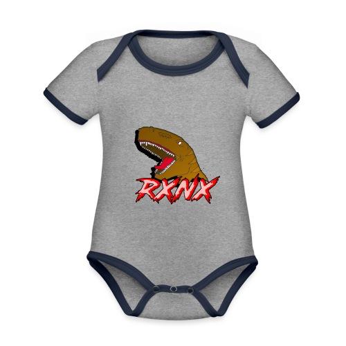 T-SHIRTEX - Body da neonato a manica corta, ecologico e in contrasto cromatico