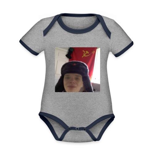 Kommunisti Saska - Vauvan kontrastivärinen, lyhythihainen luomu-body