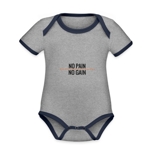 no pain no gain - Baby Bio-Kurzarm-Kontrastbody