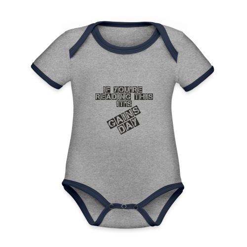 gainsday - Kortærmet økologisk babybody i kontrastfarver