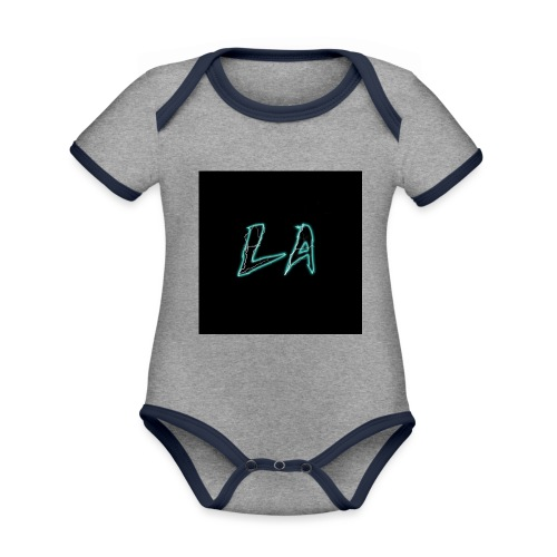 LA 2.P - Organic Baby Contrasting Bodysuit