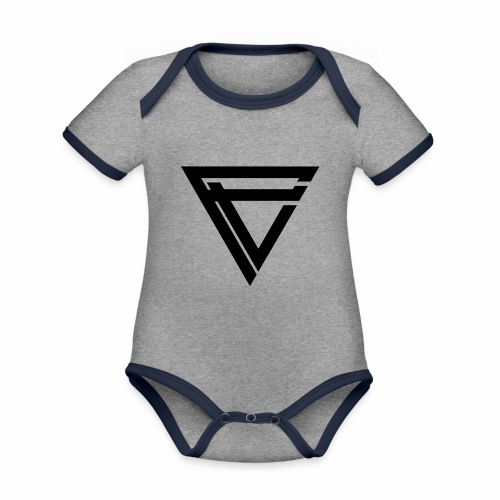 Saint Clothing T-shirt | MALE - Økologisk kortermet kontrast-babybody