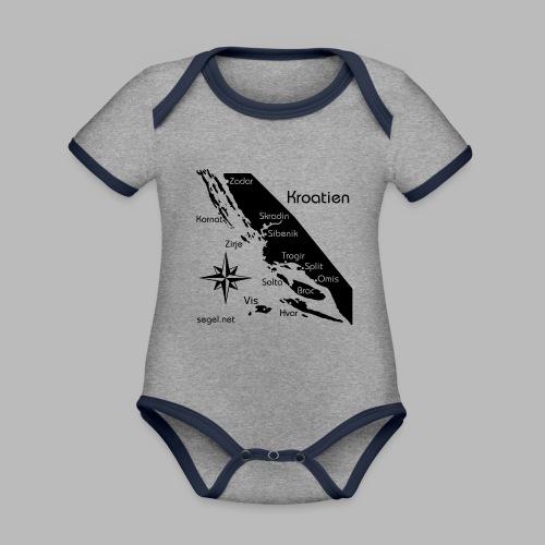 Crewshirt Urlaub Motiv Kroatien - Baby Bio-Kurzarm-Kontrastbody