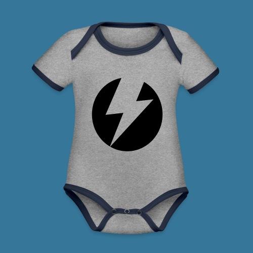 BlueSparks - Inverted - Organic Baby Contrasting Bodysuit