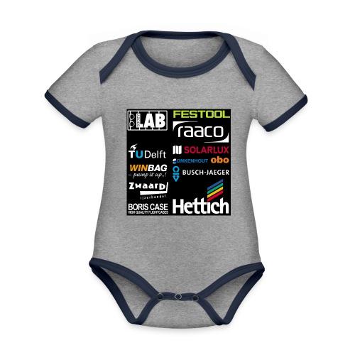 Sponsors back - Organic Baby Contrasting Bodysuit