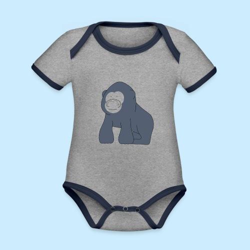 Baby Gorilla - Organic Baby Contrasting Bodysuit