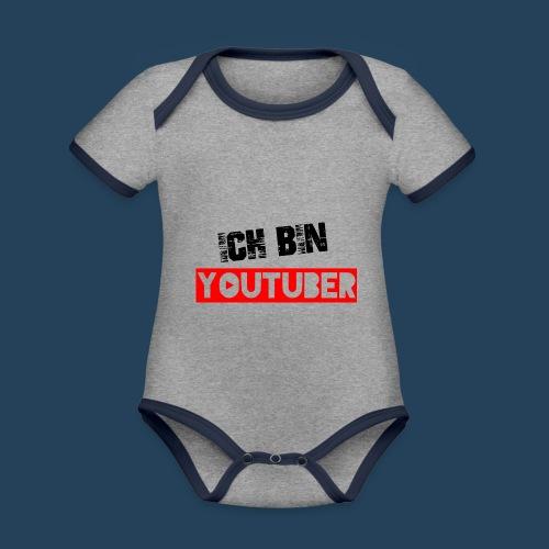 Ich bin Youtuber! - Baby Bio-Kurzarm-Kontrastbody