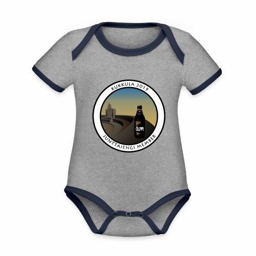 kukkula 2019 - Vauvan kontrastivärinen, lyhythihainen luomu-body