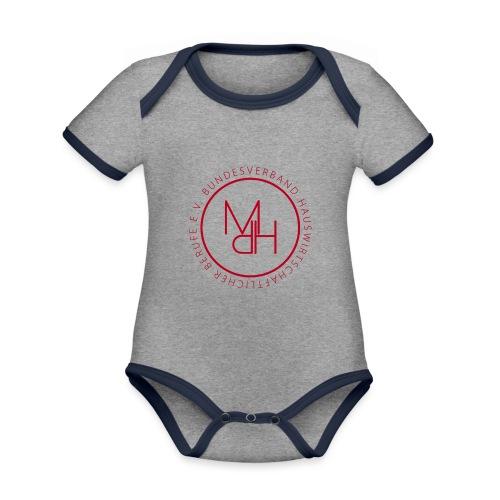 MdH-Siegel - Baby Bio-Kurzarm-Kontrastbody