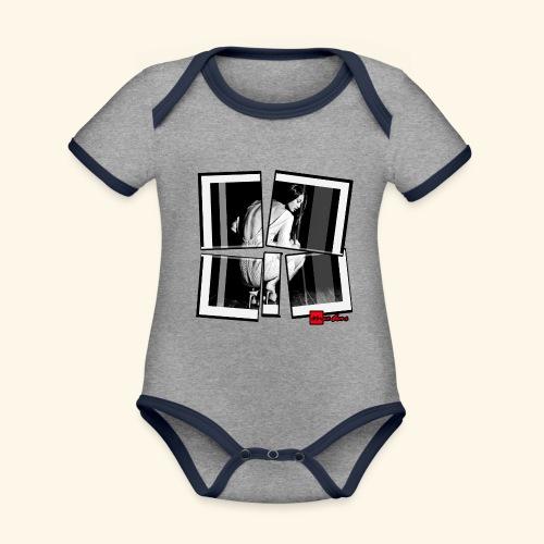 asia art 3 - Body Bébé bio contrasté manches courtes