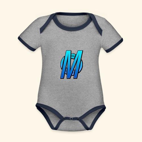 MirBlue - Vauvan kontrastivärinen, lyhythihainen luomu-body
