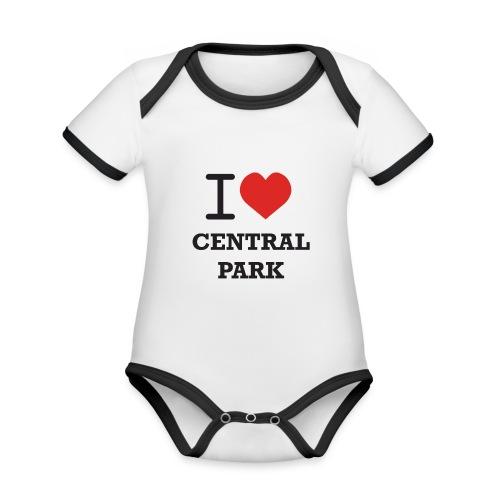 keskuspuisto - Vauvan kontrastivärinen, lyhythihainen luomu-body