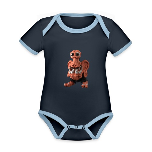 Very positive monster - Organic Baby Contrasting Bodysuit