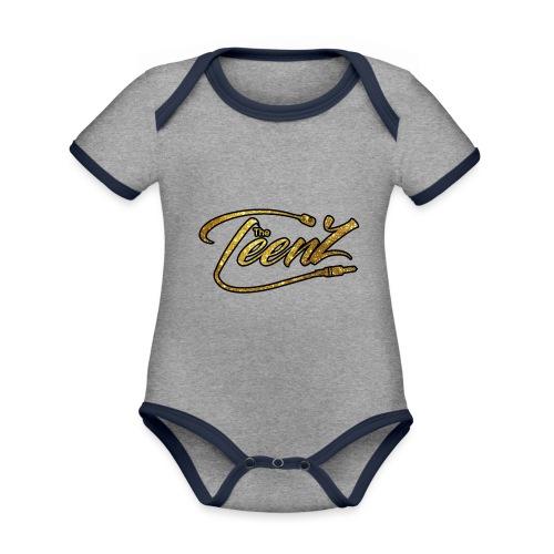 logo The TeenZ - Baby contrasterend bio-rompertje met korte mouwen