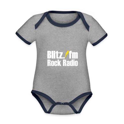 BLITZ FM TSHIRT Schwarz - Baby Bio-Kurzarm-Kontrastbody