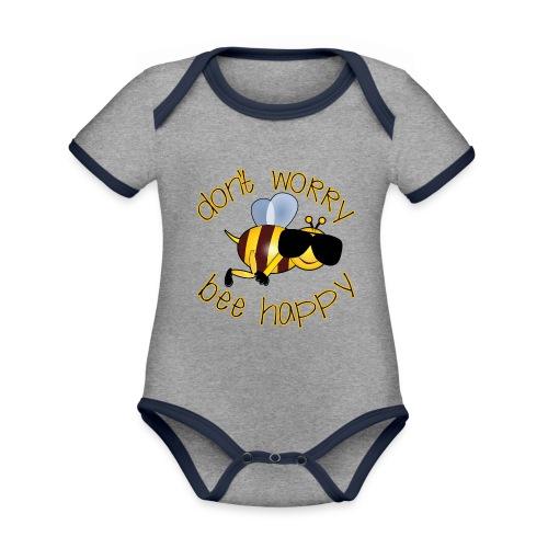Bee happy, it´s summertime! - Baby Bio-Kurzarm-Kontrastbody
