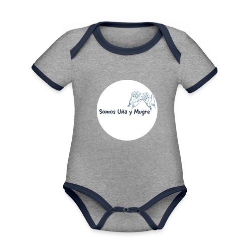 Somos uña y mugre - Body contraste para bebé de tejido orgánico