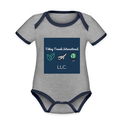NEW Toking Travel Logo! - Organic Baby Contrasting Bodysuit
