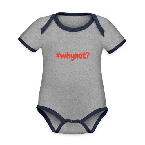whynot - Vauvan kontrastivärinen, lyhythihainen luomu-body