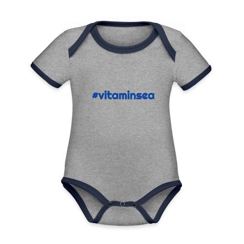 vitaminsea - Vauvan kontrastivärinen, lyhythihainen luomu-body