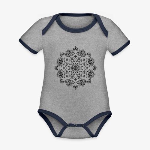 Mandala - Organic Baby Contrasting Bodysuit