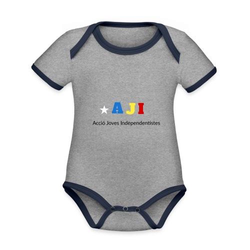 merchindising AJI - Body contraste para bebé de tejido orgánico