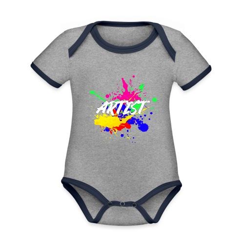 Montrez que vous êtes un Artiste International - Body Bébé bio contrasté manches courtes