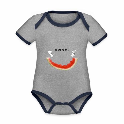 Post Melone - Økologisk kortermet kontrast-babybody
