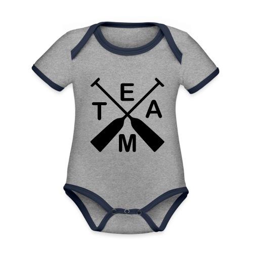 Drachenboot Team 2c - Baby Bio-Kurzarm-Kontrastbody