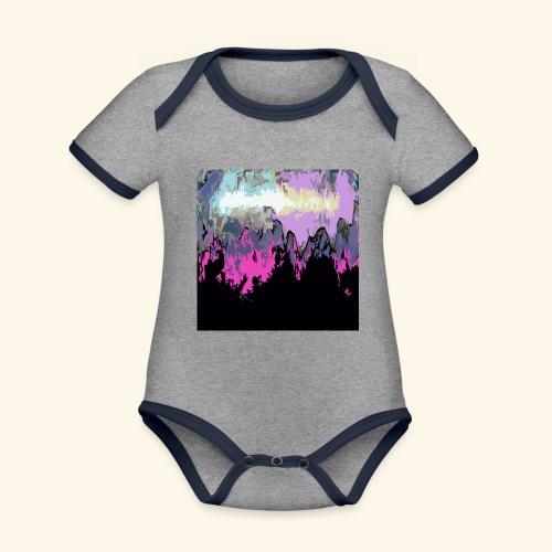 Macchia - Body da neonato a manica corta, ecologico e in contrasto cromatico