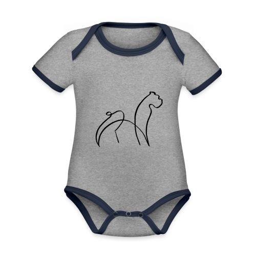 randy sinfondo negro - Body contraste para bebé de tejido orgánico