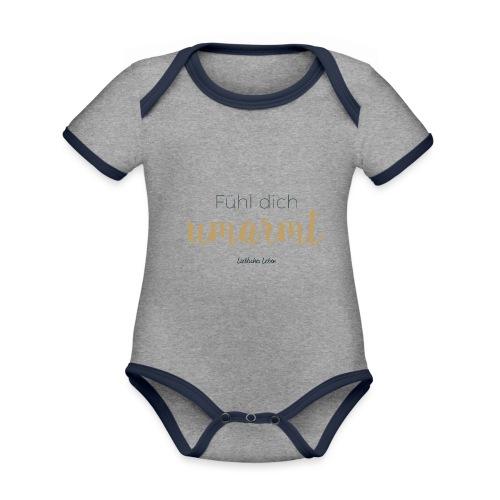 Fühl dich umarmt! - Baby Bio-Kurzarm-Kontrastbody
