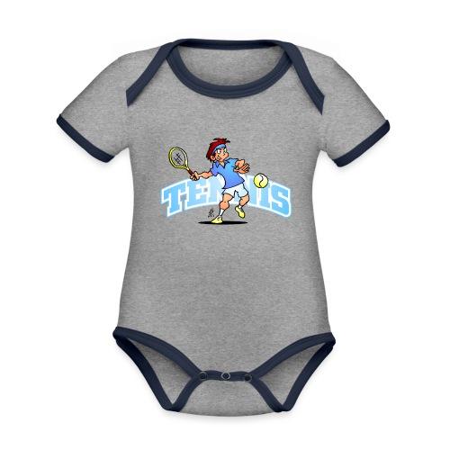 Tennis IV txt fc - Organic Baby Contrasting Bodysuit